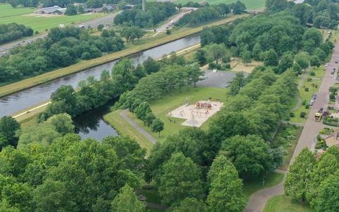 Luchtfoto Zuiderpark Hoogeveen.