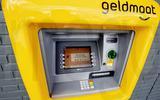 De nieuwe geldmaat automaten.