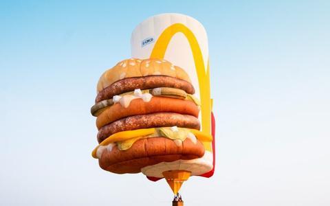 De speciale McDonald? luchtballon.