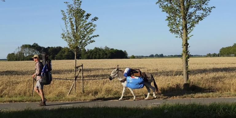 Tjerk en Lodewijk onderweg. Foto: DvhN