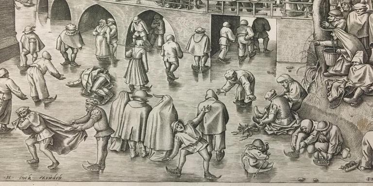 Schaatsen voor de Sint-Jorispoort in Antwerpen (1558) Pieter Bruegel