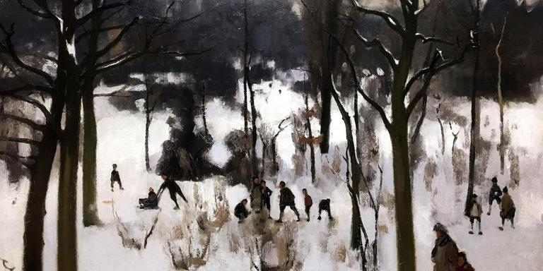 Wintergezicht Oosterpark (1900) Willem Witsen