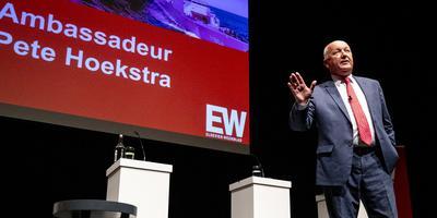 Pete Hoekstra, ambassadeur voor de Verenigde Staten in Nederland tijdens een debat van Elsevier Weekblad in oktober 2019.