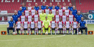 Teamfoto van FC Emmen aan het begin van de competitie. Foto Cor Lasker