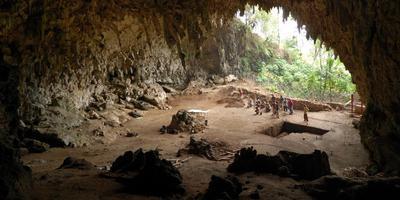 Opgravingen naar de homo floresiensis op het Indonesische eiland Flores. Foto Logos