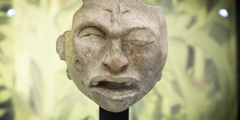 Een knipogend Maya-masker. FOTO MARCEL JURIAN DE JONG