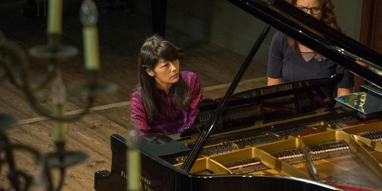 Keiko Shichijo in de Lutherse kerk.