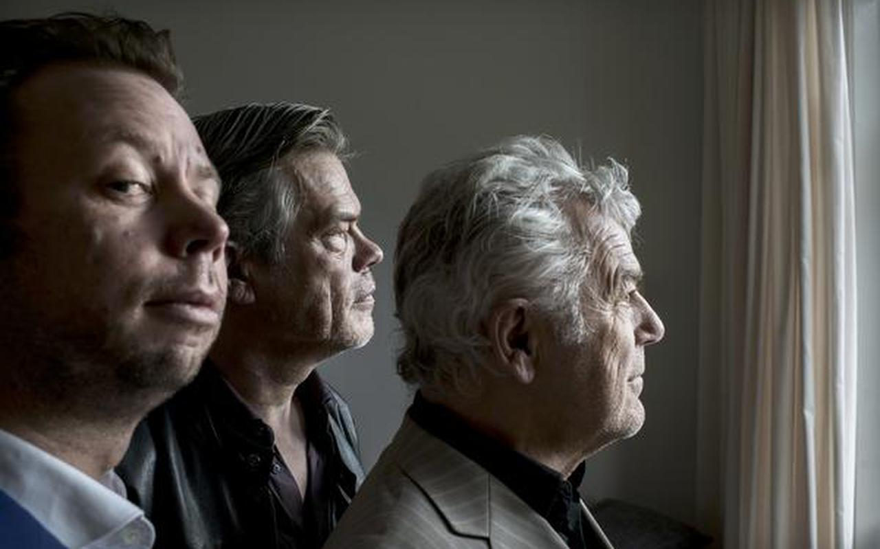 Vlnr Reinout Douma, Ko van den Bosch en Hans Dagelet. FOTO CORNÉ SPARIDAENS