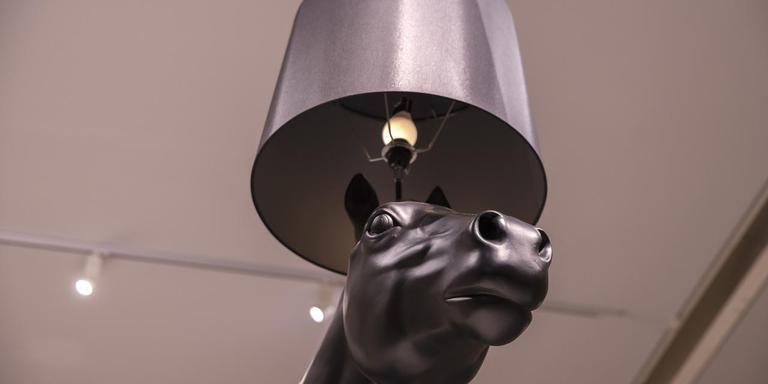 Groningen. Tentoonstelling Grrrom! Dierenkunst uit het depot van het Groninger Museum.foto: Marjorie Noë