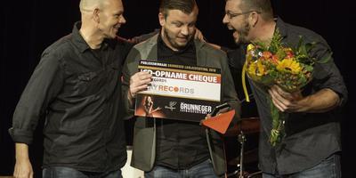 Manlu won dit jaar de juryprijs van het Grunneger Laidjesfestival in het Der Aa-theater in Stad. foto archief dvhn