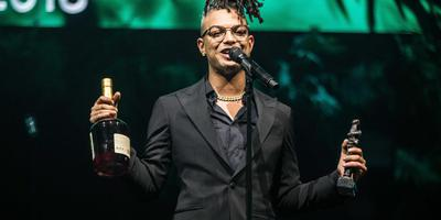 Ronnie Flex won onlangs de Edison voor de beste hiphop-act. Foto ANP/Kippa/Paul Bergen