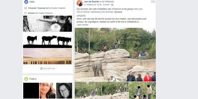 Het bericht van Jan de Zwarte op Facebook maakte veel reacties los.