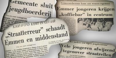 Krantenkoppen uit het najaar van 1968.