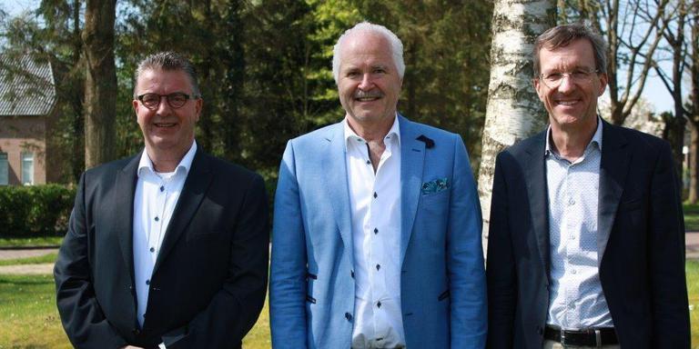 Bas Luinge, Henk Heijerman en Co Lambert: het nieuwe wethouderstrio van Aa en Hunze