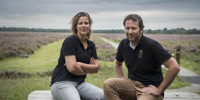 Peter en Marianne van Wijk van De Bosrand in Norg bouwen met Staatsbosbeheer en nieuw educatief centrum bij het Noordscheveld. Foto: Jaspar Moulijn