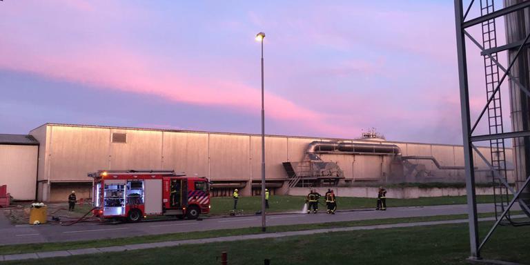 In juni brak bij de afvalverwerker in Wijster ook al brand uit. FOTO ARCHIEF DVHN.