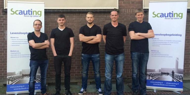 Het team van Scauting dat de hoofdprijs in de wacht sleepte. FOTO SCAUTING