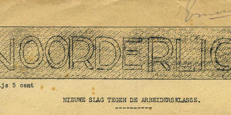 kop van de communistische illegale krant Noorderlicht