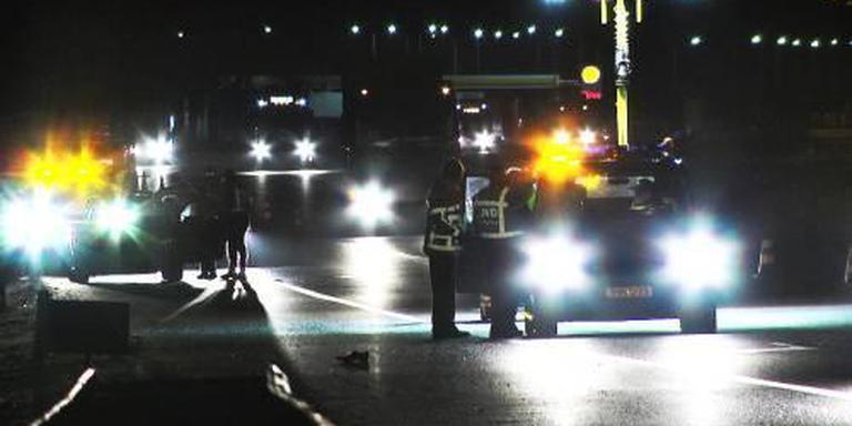 Politieonderzoek na de aanrijding op de A28.