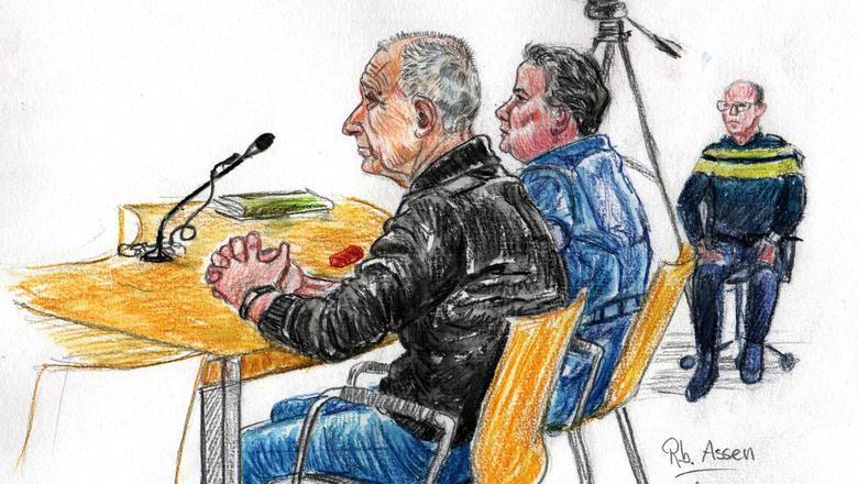 De eetpiraten Jan V. en Jolanda H. in de rechtbank. Illustratie Annet Zuurveen