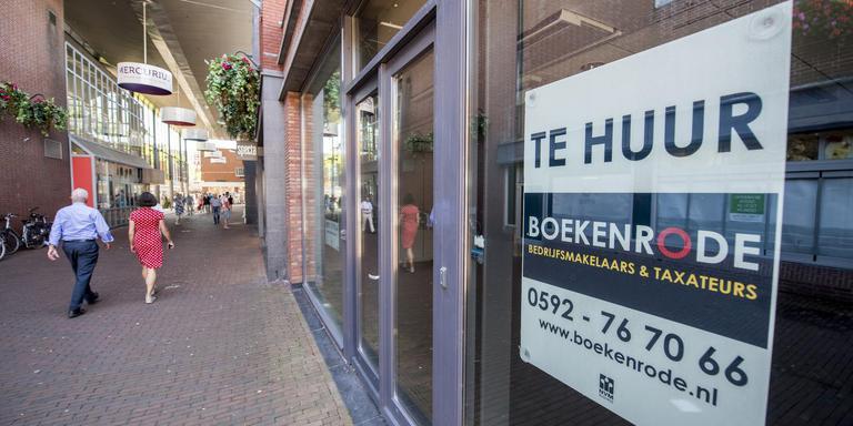 Leegstand in het centrum van Assen is brancheorganisatie INretail een doorn in het oog. Foto: Archief Marcel Jurian de Jong