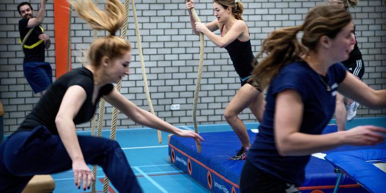 De eerste keer apenkooigym in Groningen, vorig jaar februari.