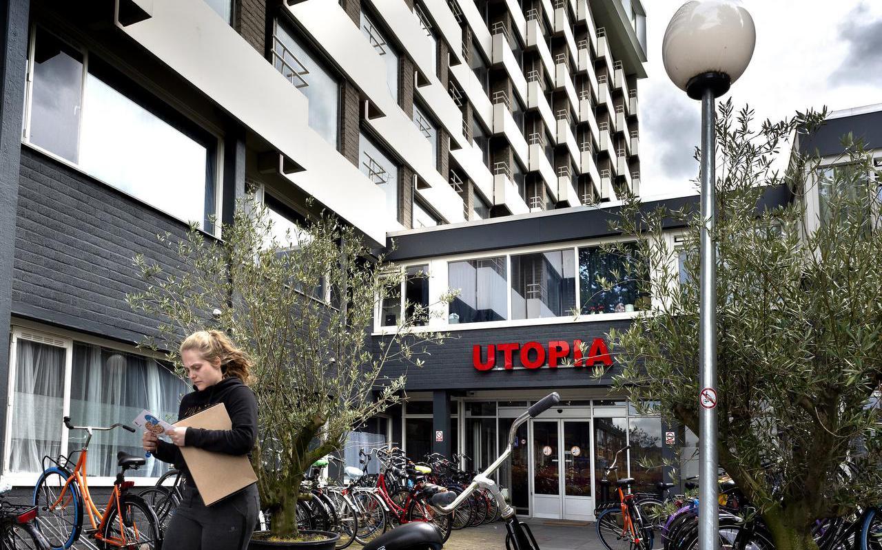 De 315 woningen in studentencomplex Utopia in Selwerd zijn eigendom van één particulier. Foto: Arend Jan Vegter