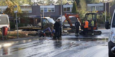 De ondergelopen Brinkenweg. Foto: Van Oost Media
