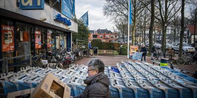 De winkel van Albert Heijn aan de Stationsweg in Zuidlaren. Foto Kees van de Veen