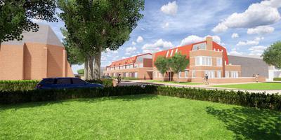 Impressie van het complex met 33 appartementen in Eelde, vanaf de Hoofdweg.