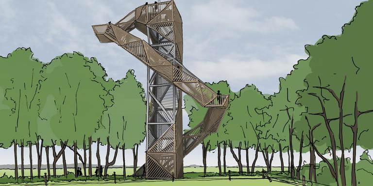 Impressie van de uitkijktoren.