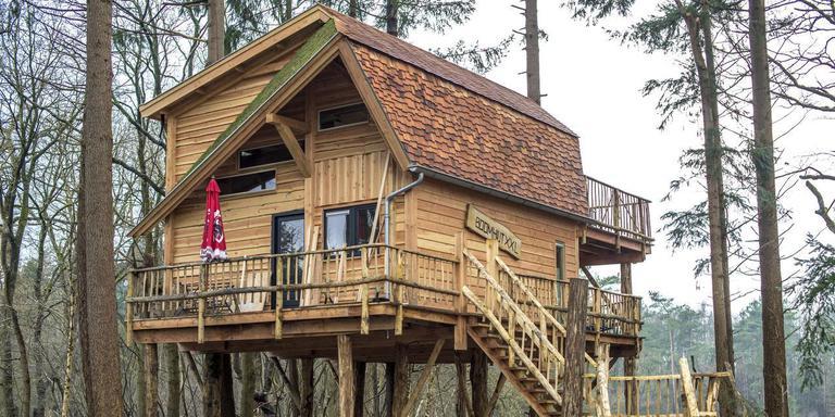 Het boomhuis op camping Torentjeshoek loopt als een tierelier. Foto Marcel Jurian de Jong