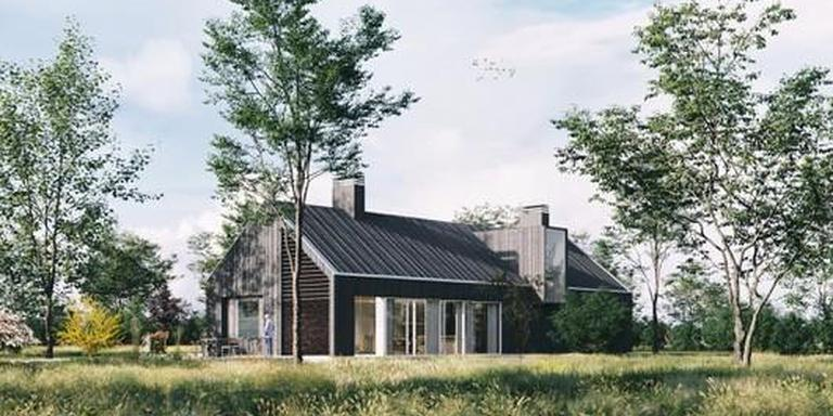 Artist's impression van een schuurwoning op Schelfhorst.