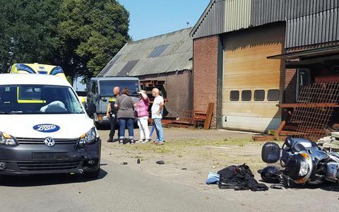 Motorrijder raakt gewond bij ongeluk in Wijster