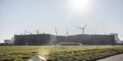 De megavergister van Bio Energy Coevorden in aanbouw. Foto DvhN