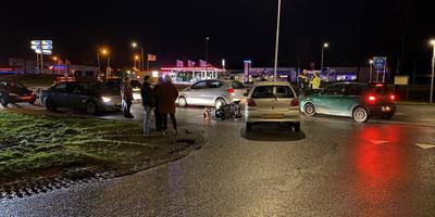 Botsing scootmobiel en auto, Nieuw-Buinen.