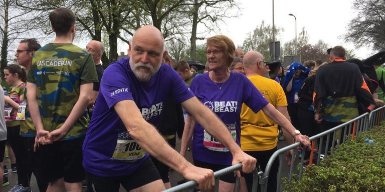Henk en Hennie Winkel in het startvak.