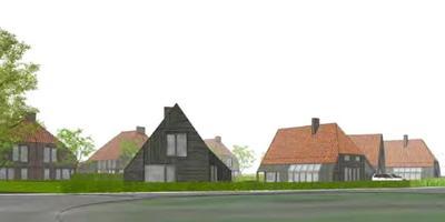 De huizen die op het terrein van de vroegere Ontmoetingskerk gebouwd worden.