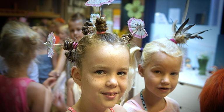 Crazy Hair Day Diedeldoorn EmmeN. FOTO JAN ANNINGA