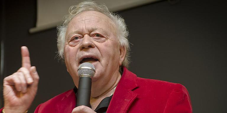 Hendrik Bolk tijdens een bijeenkomst bedoeld om TEVV uit de as te laten herrijzen.