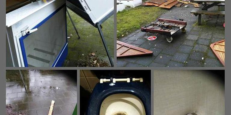 Overzicht van de schade als gevolg van vandalisme op het Woelwater. FOTO KINDERCENTRUM WOELWATER