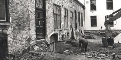 Het kasteel van Coevorden tijdens de restauratie in 1966. Foto: Gerrit Oosterveen