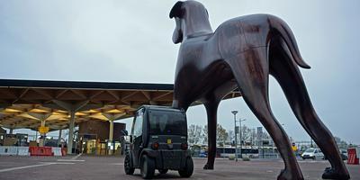 Het autootje bij Mannes. Foto: Bert Visser