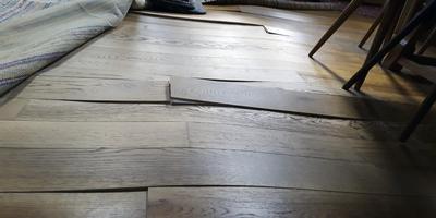 De aangetaste vloer. foto dvhn