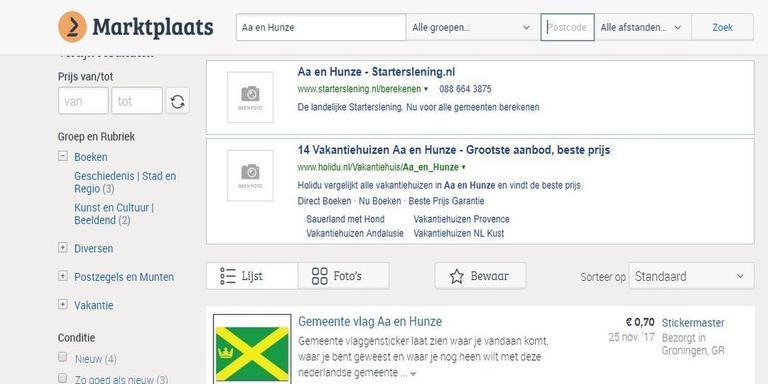 Inwoners van Aa en Hunze zijn van alle Drenthe het meest actief op Marktplaats.nl.