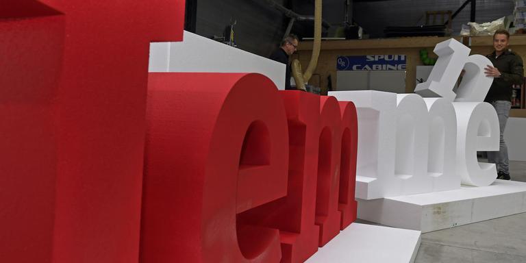 Het bedrijf Quick Reclame heeft de letters I Emmen gemaakt.