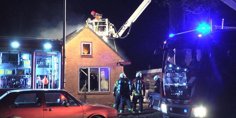 Woningbrand Nieuw-Buinen. Foto: Persbureau Meter