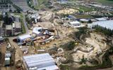 De bouw van Wildlands vanuit de lucht. FOTO HENK REINDERS
