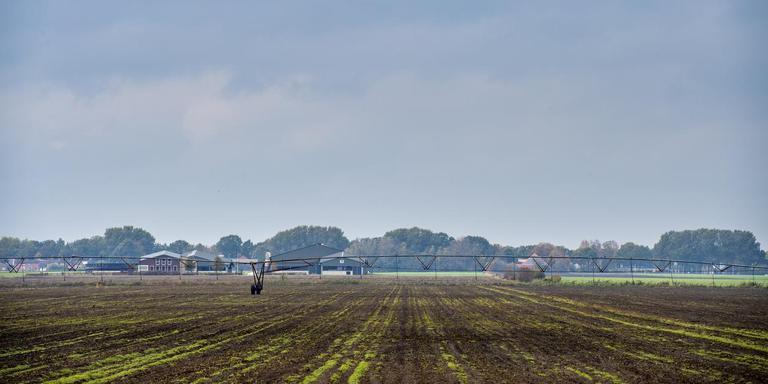 Beeld van het landschap bij 1e Exloermond waar in de toekomst windmolens komen te staan.