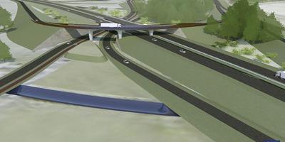 Met fly-overs wordt de N34 rechtstreeks verbonden met de Rondweg van Emmen.
